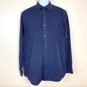 Banana Republic blue striped white size L Fitted